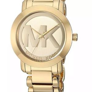 MICHAEL KORS Women's Runway Gold MK Logo Dial